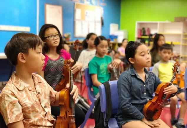 BSE violins sitting